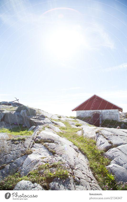 1. haus. Ferien & Urlaub & Reisen Tourismus Ausflug Sonne Häusliches Leben Wohnung Umwelt Natur Himmel Sonnenlicht Klima Wetter Schönes Wetter Gras Felsen