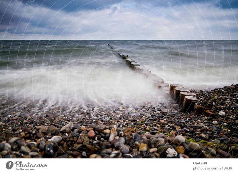 In Bewegung Natur Wasser Himmel blau Sommer schwarz gelb Holz Stein Landschaft Wellen Wind Umwelt Horizont Sturm Brandung