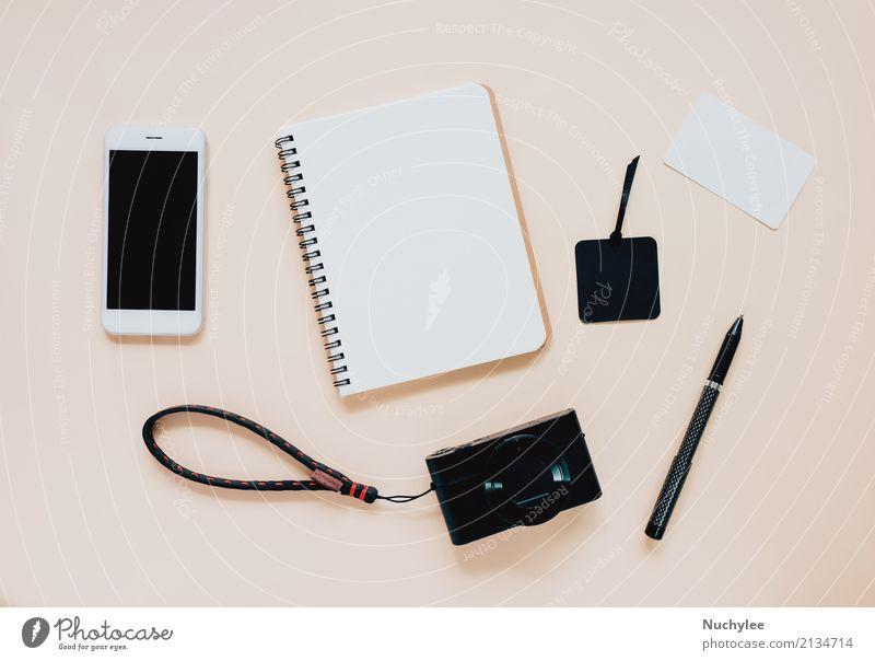 Konzept der kreativen flachen Laienart in Mode Farbe schwarz gelb Lifestyle Stil Kunst Business Design Textfreiraum hell Büro modern Technik & Technologie