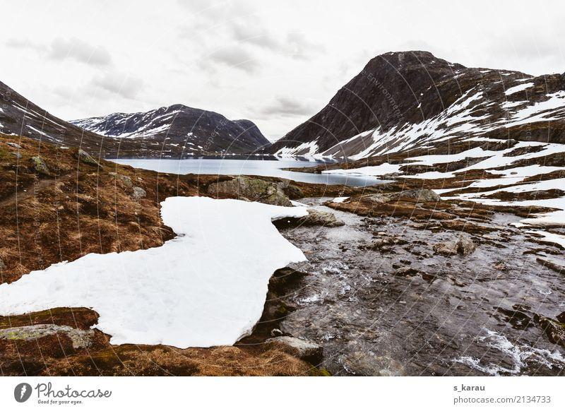 Gletscherlandschaft Ferien & Urlaub & Reisen Abenteuer Freiheit Expedition Schnee Berge u. Gebirge wandern Natur Urelemente Wasser Felsen Gipfel