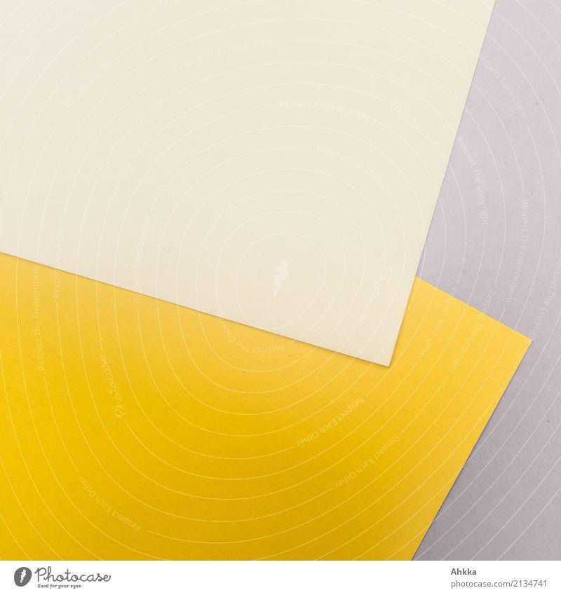 Gelb-Gelbe Ecke Bildung Schule lernen Berufsausbildung Büroarbeit Arbeitsplatz Business Karriere Schreibwaren Papier Zettel Linie Streifen gelb grau Farbe