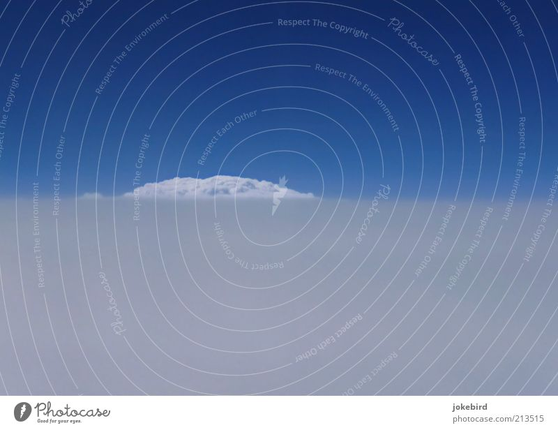 Versteckspiel weiß blau Wolken Ferne Freiheit träumen Luft Wetter Horizont Luftverkehr Zukunft Niveau Hügel Unendlichkeit Asien Schönes Wetter