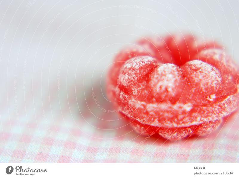Himbeerbonbon rot Ernährung klein rosa Lebensmittel süß rund lecker Süßwaren mehrfarbig Bonbon Zucker kariert sauer