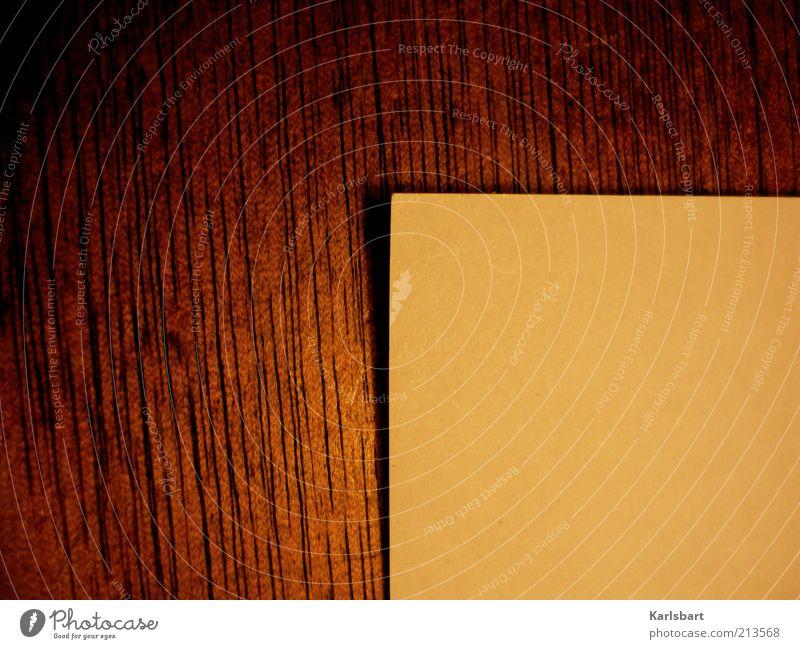 schreibblockade. Lifestyle Stil Design Basteln Schreibtisch Büroarbeit Arbeitsplatz Post Medien Printmedien Schreibwaren Papier Zettel Holz Linie Kreativität