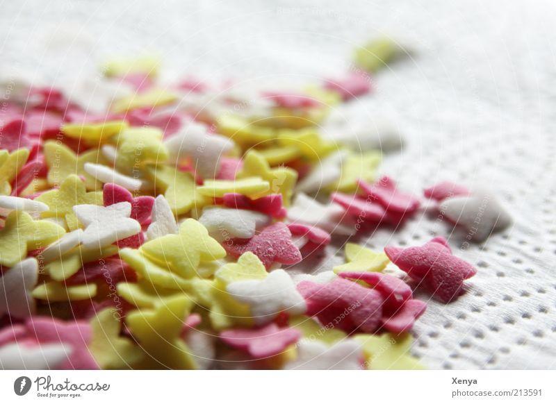 Eine Hand voll Zucker ... weiß gelb rosa süß Dekoration & Verzierung Schmetterling Süßwaren viele Insekt Zuckerstreusel