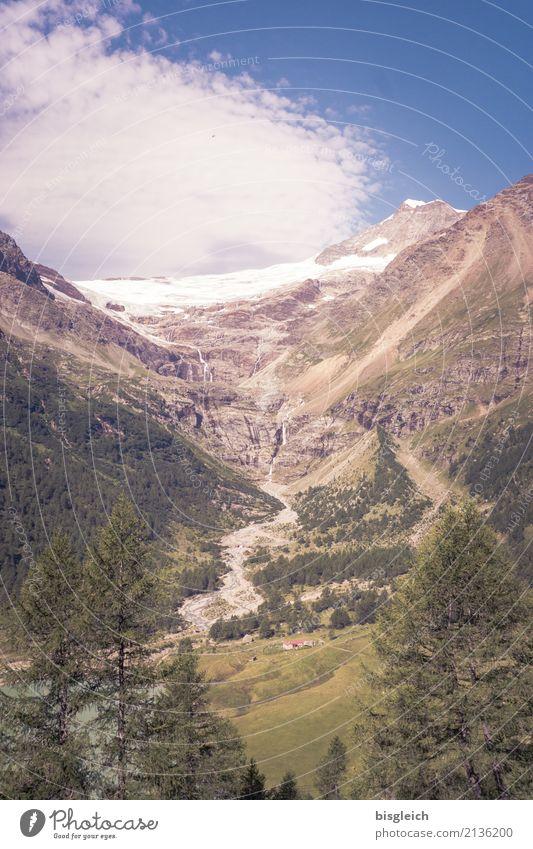 Palügletscher Bergsteigen wandern Klettern Umwelt Natur Landschaft Schnee Alpen Berge u. Gebirge Gletscher Schweiz Europa blau braun grün Ferne Klimawandel