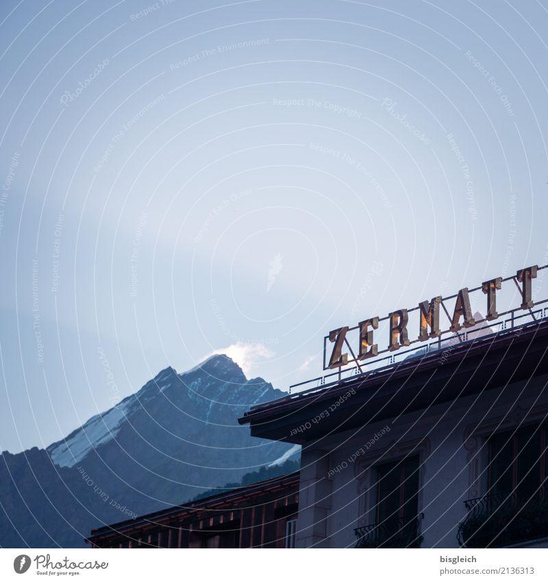 Zermatt Himmel blau Sommer Berge u. Gebirge Europa Dorf Schweiz