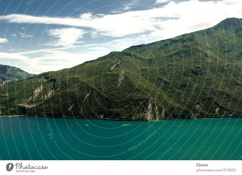 Neuseeland auf italienisch Natur Wasser schön Himmel grün Sommer Ferien & Urlaub & Reisen ruhig Wolken Ferne Wald Erholung Berge u. Gebirge See Landschaft Kraft