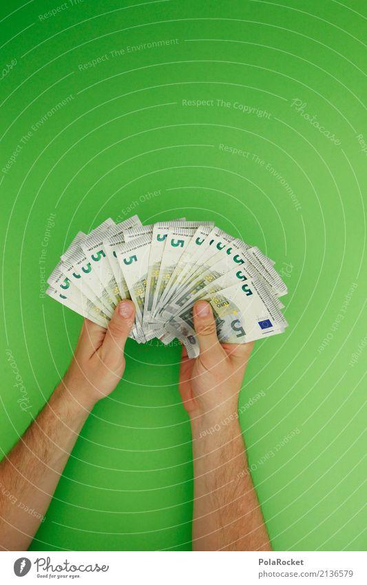 #AS# Geldgrün Hand Kunst ästhetisch Erfolg viele Geldinstitut 5 Geldscheine Euro Eurozeichen Trostpreis Lotterie Bargeld Gewinnspiel