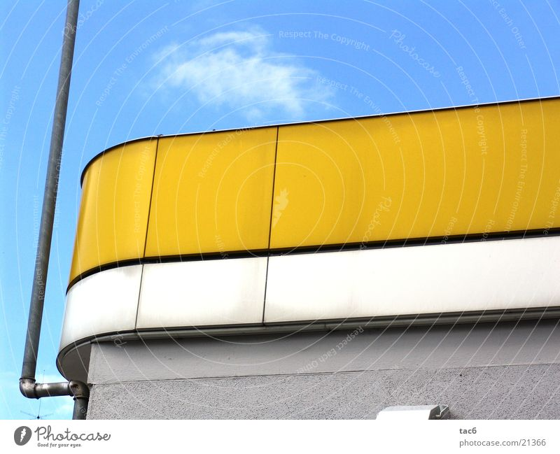 wow gelb Himmel gelb Mauer Gebäude dreckig rund verfallen staubig Fototechnik