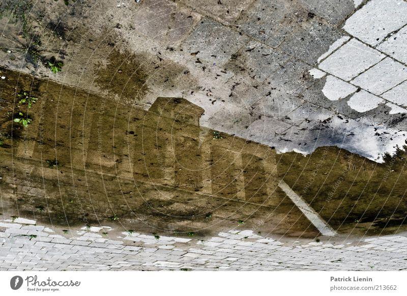 upside down Wasser alt Stadt Haus Wand träumen Mauer Gebäude Regen Stimmung nass authentisch beobachten entdecken Bauwerk Urelemente