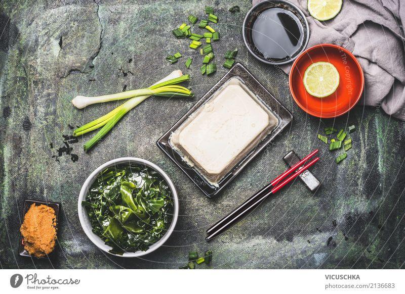 Japanische Miso Suppe Zutaten Lebensmittel Eintopf Ernährung Mittagessen Bioprodukte Vegetarische Ernährung Diät Asiatische Küche Gesundheit Gesunde Ernährung