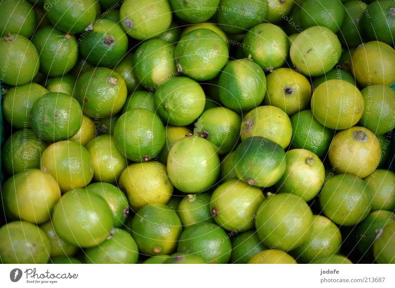 Limonen grün gelb Frucht mehrere viele rund Vegetarische Ernährung sauer Limone