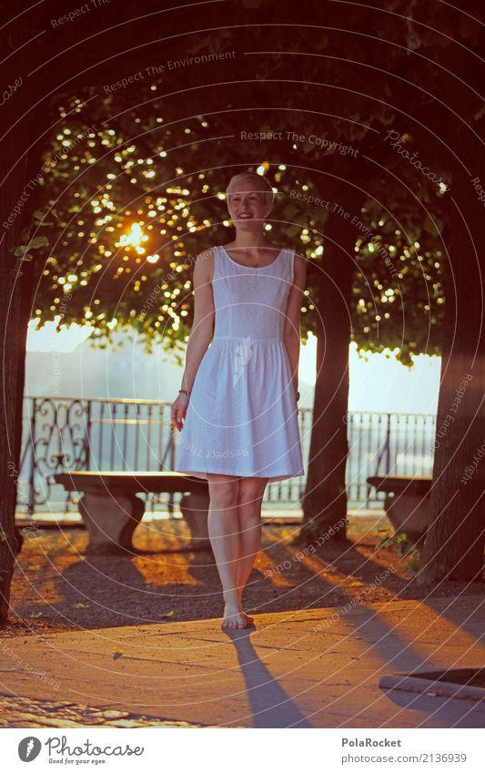 #A# Brühlscher Tag Kunst ästhetisch Brühlsche Terrasse Dresden Sonnenaufgang Baum Bank Frau Körperhaltung Model Modellfigur laufen Spaziergang Barfuß positiv