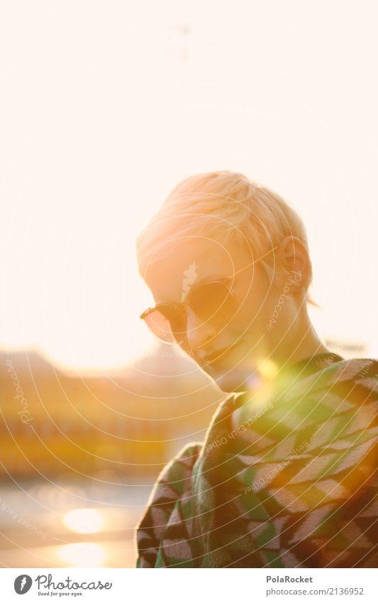 #A# Sunny Day Mensch Frau Sommer Sonne Erotik feminin Stil ästhetisch gold blond Coolness Spaziergang Model Sonnenbrille Lichtschein Alltagsfotografie