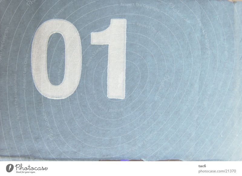 01 Stil Ziffern & Zahlen Typographie Fototechnik