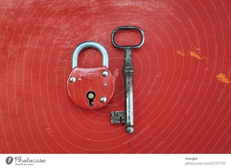 Ungleiches Paar II Arbeit & Erwerbstätigkeit Beruf Handwerker Dienstleistungsgewerbe Werkzeug Technik & Technologie rot silber Sicherheit Sicherheitsdienst