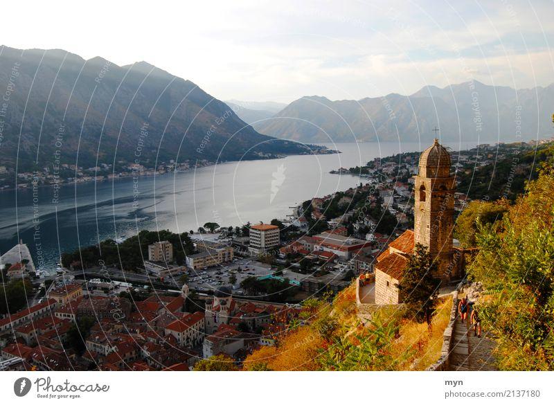 Kotor | Montenegro Himmel Natur Ferien & Urlaub & Reisen Sommer Landschaft Meer Ferne Berge u. Gebirge Herbst Küste Tourismus wandern Kirche Abenteuer Gipfel