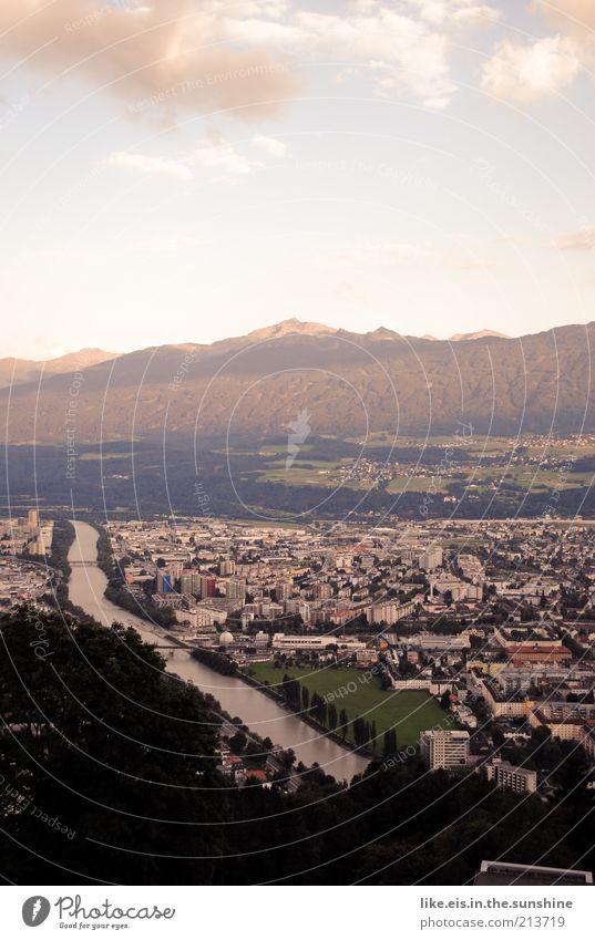 Innsbruck Natur schön Himmel Sommer Ferien & Urlaub & Reisen ruhig Wolken Ferne Wald Erholung Berge u. Gebirge Freiheit Landschaft Umwelt Horizont