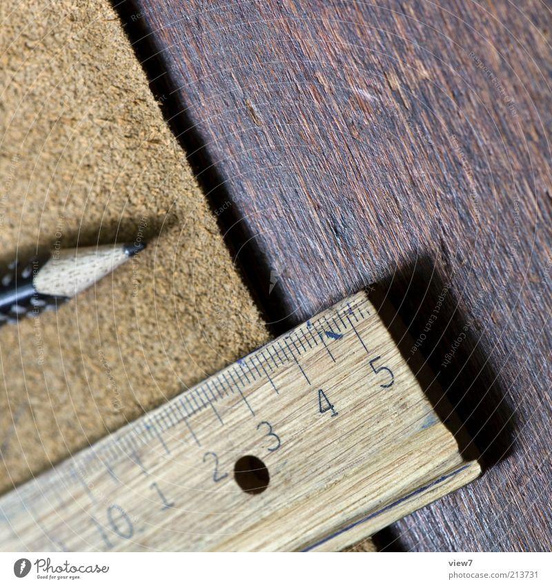 Federtasche Freizeit & Hobby Bildung Schule Studium Schreibwaren Schreibstift Holz Ziffern & Zahlen ästhetisch authentisch dunkel einfach natürlich Spitze braun