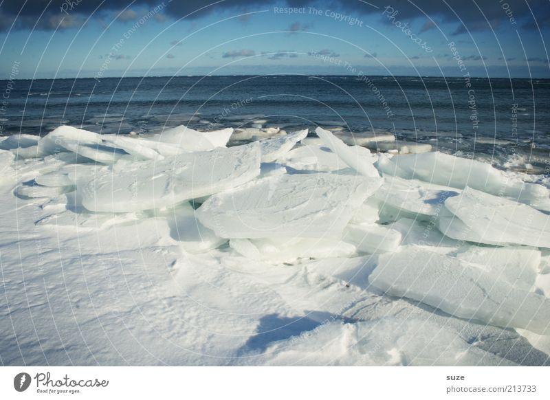 Sommah is vorbei Natur blau Wasser weiß Meer Winter Landschaft Umwelt dunkel kalt Schnee Küste Horizont Eis außergewöhnlich Klima