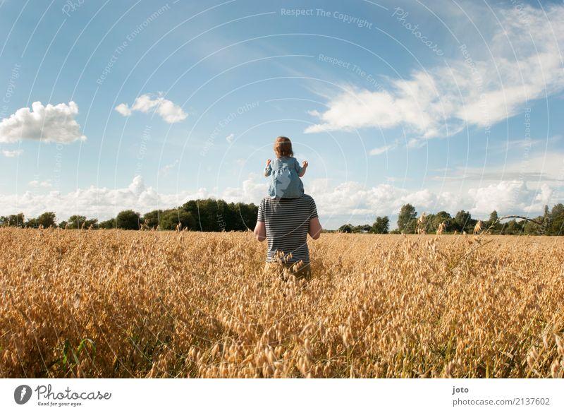 Gemeinsam Kind Natur Ferien & Urlaub & Reisen Mann Sommer Ferne Umwelt Familie & Verwandtschaft Freiheit Zusammensein Ausflug Zufriedenheit Kindheit Idylle