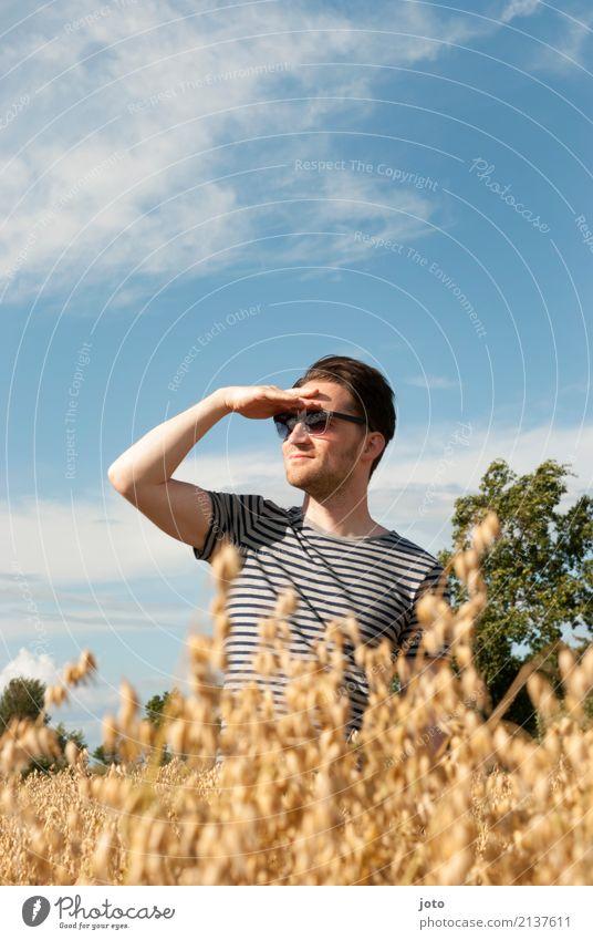 Ein Männlen steht im Felde... Ferien & Urlaub & Reisen Sommer Erholung ruhig Ferne Umwelt Freiheit Ausflug Zufriedenheit Zukunft Lebensfreude entdecken