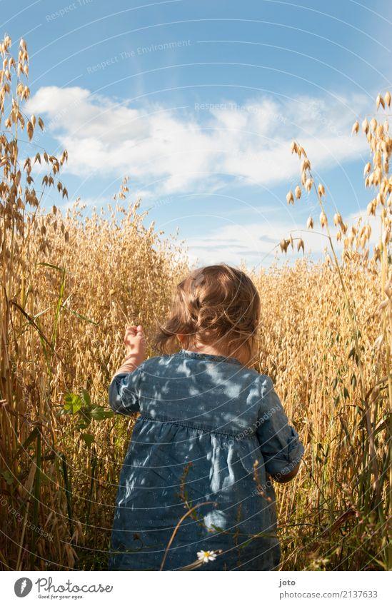 Der Weg ist das Ziel Kind Natur Ferien & Urlaub & Reisen Sommer Freude Mädchen Wärme Wege & Pfade Spielen Freiheit Freizeit & Hobby Ausflug Kindheit laufen