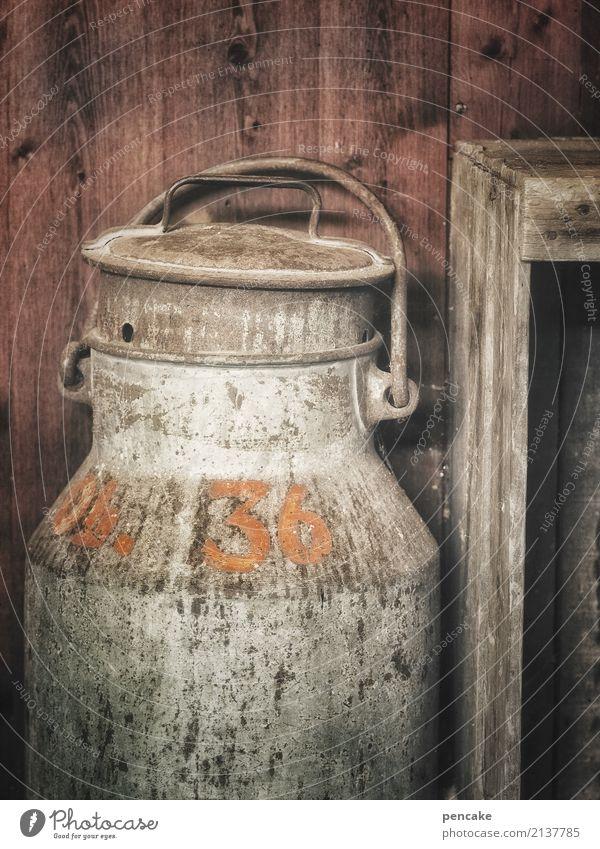 kaputt | der milchpreis Milcherzeugnisse retro Armut Einsamkeit nachhaltig Nostalgie Verfall Vergangenheit Vergänglichkeit Reichtum Milchkanne Bauernhof