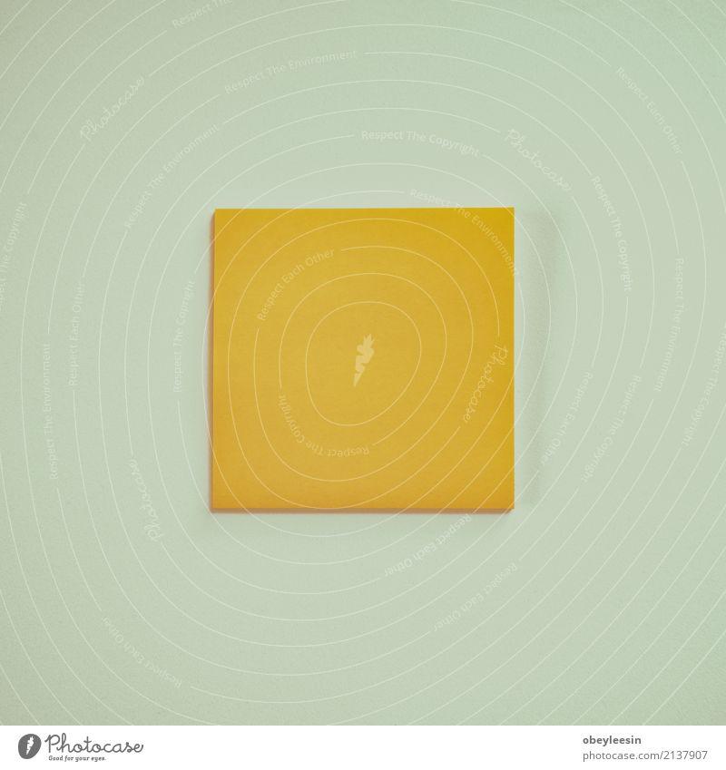 Gelbe Notizzettel Farbe gelb Business Design Arbeit & Erwerbstätigkeit Textfreiraum Büro Papier Information Schriftstück Post Plan Mitteilung blanko Aufgabe