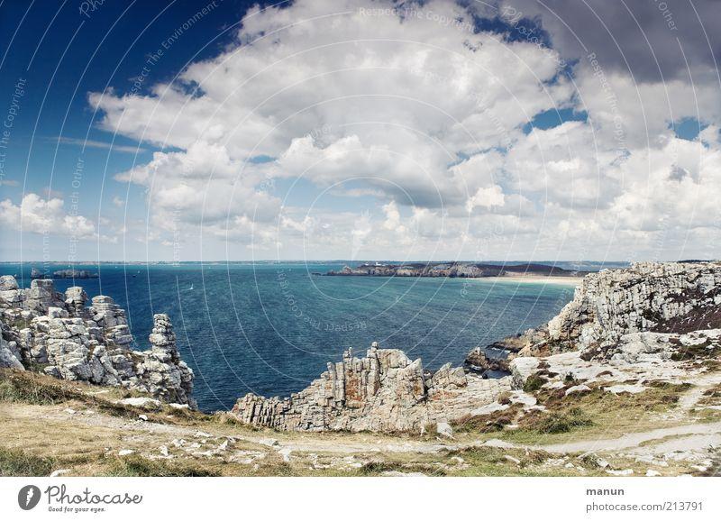 Pen Hat Natur Wasser Himmel Meer blau Sommer Strand Ferien & Urlaub & Reisen Wolken Ferne Wege & Pfade Sand Landschaft Küste Umwelt Horizont