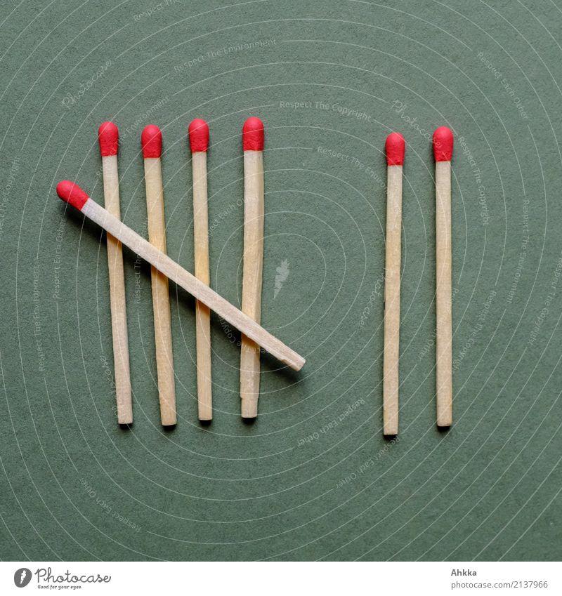 Sieben auf einen Streich (2) Feuer Ziffern & Zahlen Streichholz 7 grün rot Vorfreude Vertrauen Sicherheit Warmherzigkeit geduldig Ordnungsliebe gefährlich