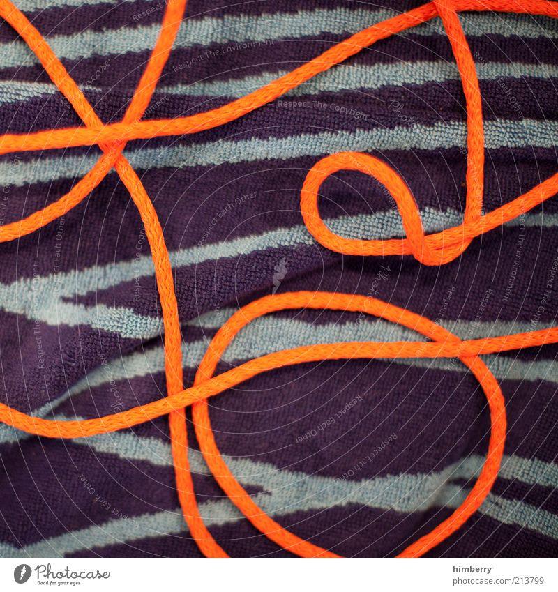 kreislaufkollapse grau orange Design Seil violett außergewöhnlich Stoff Schnur trendy Muster Handtuch abstrakt Frottée