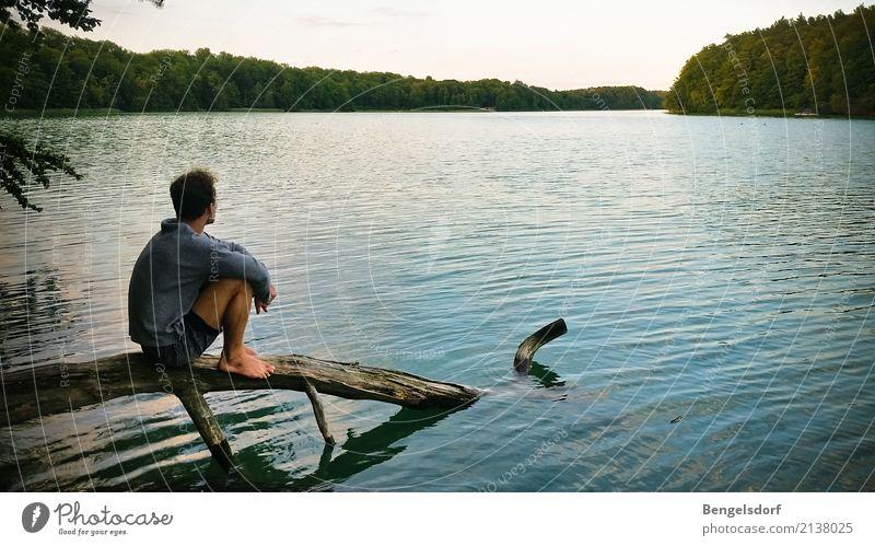 Seepause II Mensch Natur Ferien & Urlaub & Reisen Sommer Wasser Sonne Baum Erholung Einsamkeit ruhig Ferne Leben Freiheit Tourismus Schwimmen & Baden