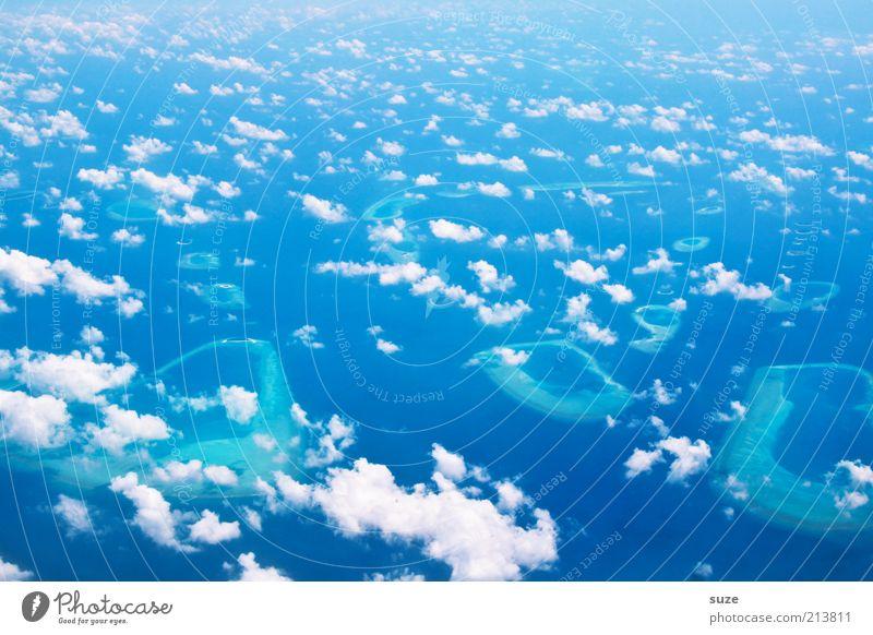 Himmelhoch jauchzend Natur Himmel Meer blau Wolken Landschaft Luft Umwelt frei Erde Insel Klima Unendlichkeit leuchten Schönes Wetter Schweben
