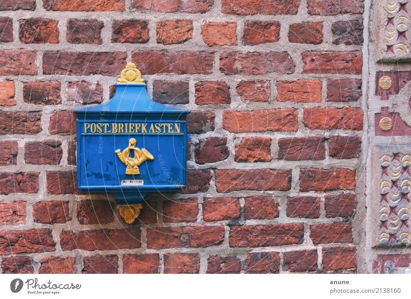 Sie haben Post! blau schön gelb Wand sprechen Stil Mauer Tourismus Design retro Kommunizieren einzigartig Vergänglichkeit historisch Güterverkehr & Logistik