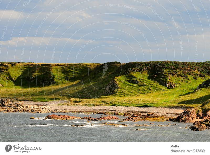Grün Natur Himmel Meer grün blau Strand Ferien & Urlaub & Reisen ruhig grau Landschaft Stimmung Küste Umwelt Reisefotografie natürlich Sehnsucht