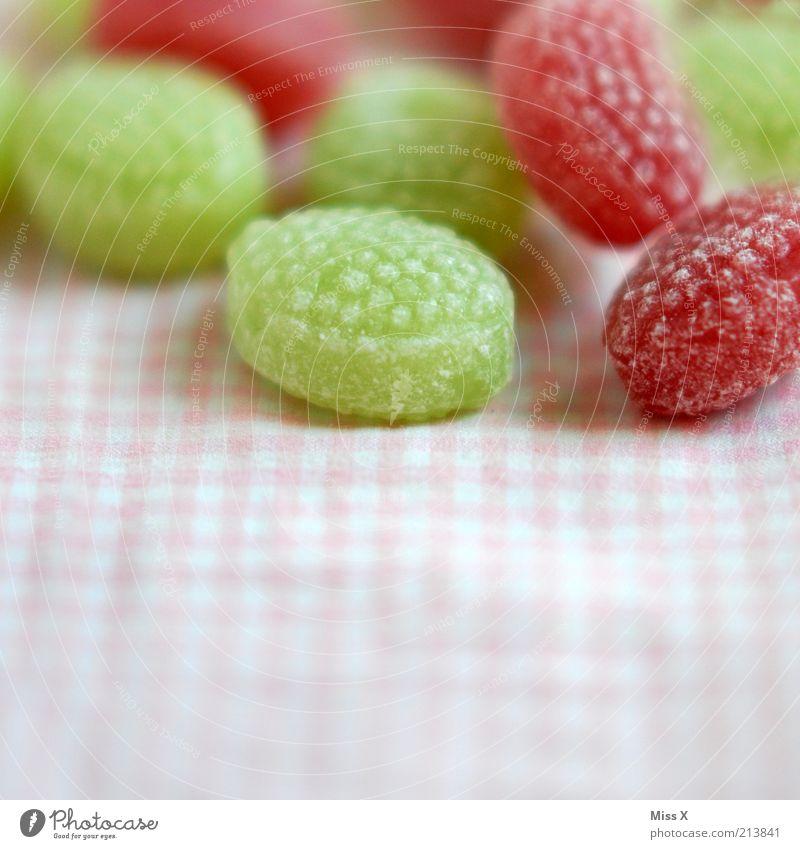 zuckersüß grün Ernährung klein rosa Lebensmittel rund Stoff lecker Appetit & Hunger Süßwaren Bonbon Zucker kariert sauer