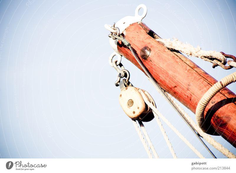 Leinen los Himmel Sommer Freude Ferien & Urlaub & Reisen ruhig Farbe Freizeit & Hobby Seil Ziel Sehnsucht Idylle Segeln Lebensfreude Schifffahrt Schönes Wetter