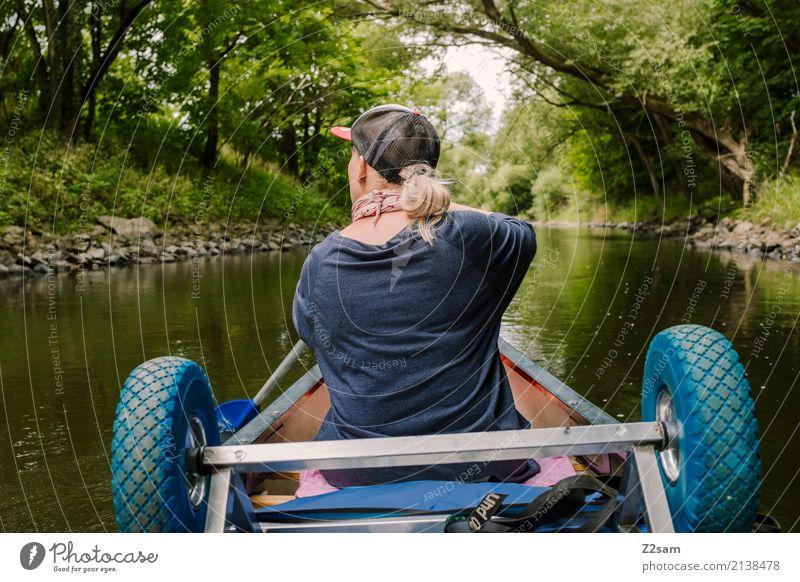 bayerischer Amazonas Natur Ferien & Urlaub & Reisen Jugendliche Junge Frau grün Landschaft Erholung Einsamkeit 18-30 Jahre Erwachsene Freizeit & Hobby blond
