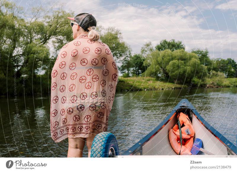 Späher Himmel Natur Ferien & Urlaub & Reisen Jugendliche Junge Frau Sommer Landschaft Erholung ruhig 18-30 Jahre Erwachsene Freiheit Ausflug Freizeit & Hobby