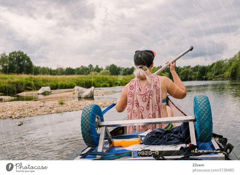 Captain Lena Lifestyle Freizeit & Hobby Ferien & Urlaub & Reisen Ausflug Abenteuer Camping Sommerurlaub Wassersport Kanutour Junge Frau Jugendliche 18-30 Jahre
