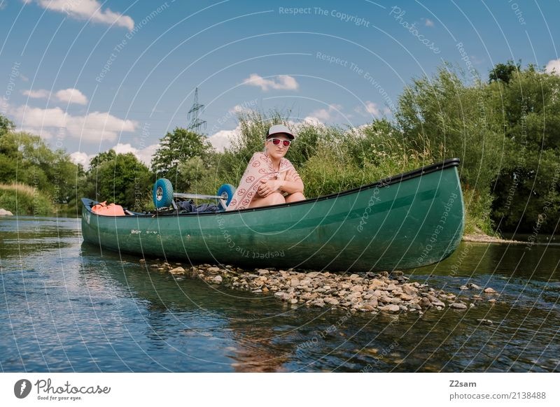 aufgelaufen Natur Ferien & Urlaub & Reisen Jugendliche Junge Frau Wasser Landschaft Erholung 18-30 Jahre Erwachsene Umwelt Freizeit & Hobby Zufriedenheit Idylle