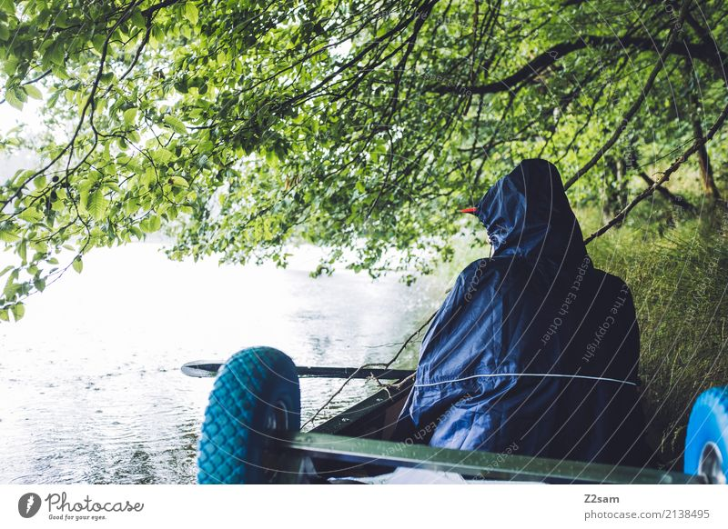 Und wir warten Natur Ferien & Urlaub & Reisen Jugendliche Junge Frau Sommer Wasser Landschaft ruhig 18-30 Jahre Erwachsene Umwelt natürlich Freizeit & Hobby