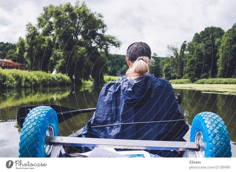 Jetzt kanns weitergehen Freizeit & Hobby Ferien & Urlaub & Reisen Abenteuer Expedition Sommerurlaub Kanu Junge Frau Jugendliche 18-30 Jahre Erwachsene Natur