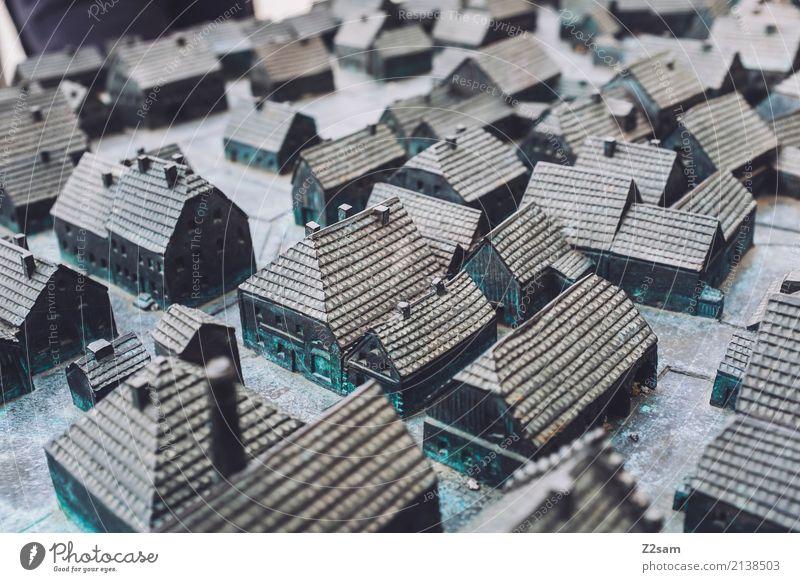 Dörfchen Dorf Haus Einfamilienhaus Architektur Verkehrswege eckig oben ästhetisch Design Gesellschaft (Soziologie) Ordnung Perspektive planen Politik & Staat