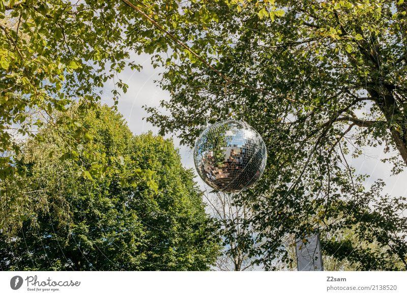Party!!! Natur Landschaft Sonnenlicht Sommer Schönes Wetter Baum Sträucher Park Discokugel ästhetisch grün Freizeit & Hobby Freude Idylle electro party sunshine