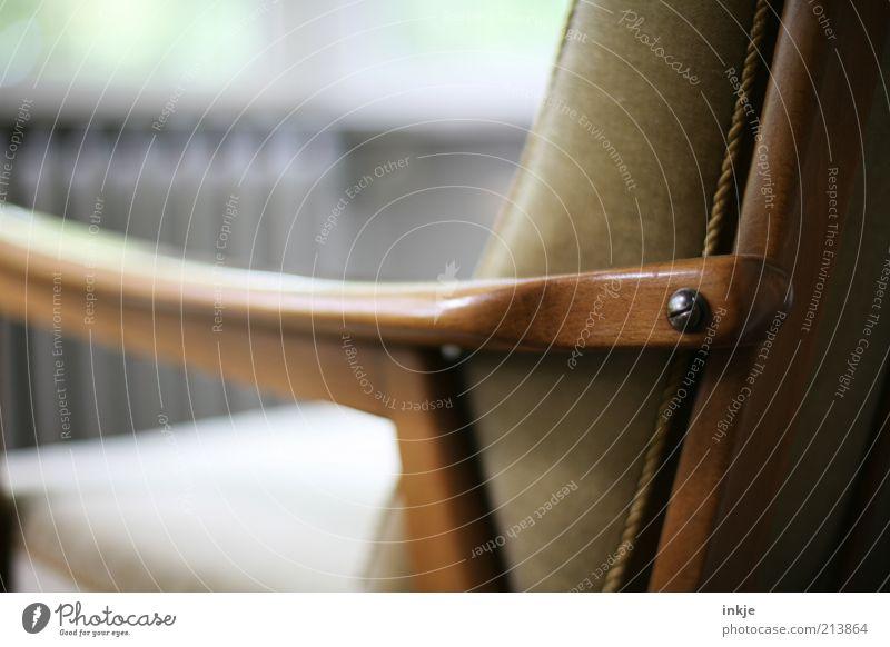 Alterssitz Stil Design Erholung ruhig Häusliches Leben Wohnung Sessel Wohnzimmer Wintergarten Ruhestand Biedermeier genießen sitzen warten alt braun Gefühle