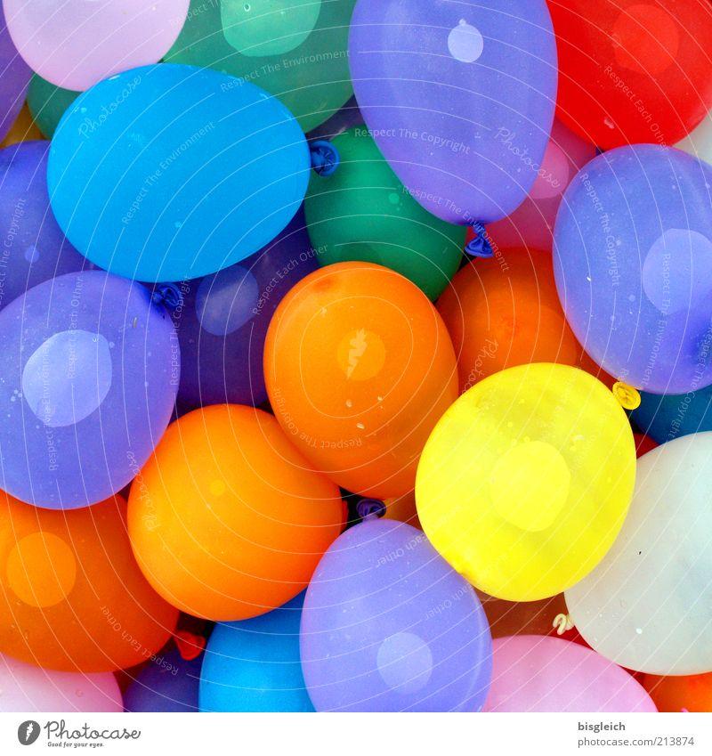 Wasserbomben Sommer Freude Leben Frühling Spielen Farbstoff lustig Glück Party frisch nass Fröhlichkeit Luftballon rund viele Lebensfreude