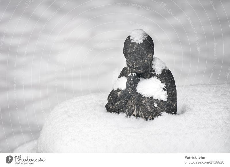 Stille im Schnee Erholung ruhig Religion & Glaube Gesundheit Glück Stein Lebensfreude Warmherzigkeit Wellness harmonisch Gelassenheit Meditation Geborgenheit